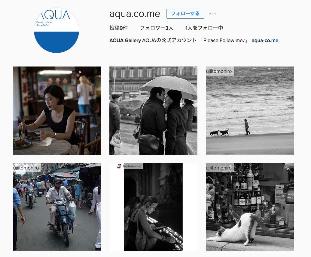 InstagramにAQUA公式アカウントをオープン